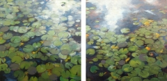 Lilypads Diptych
