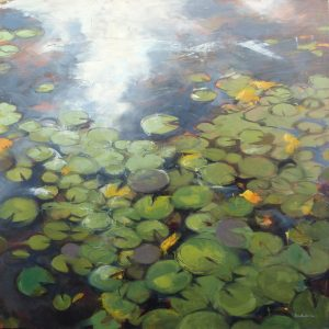 Photo of Lilypads II painting
