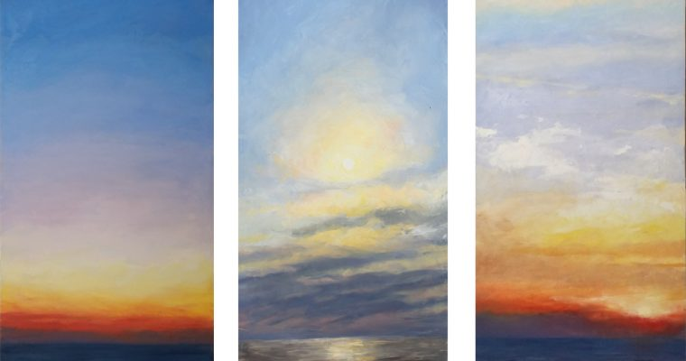 Lake and Sky Paintings