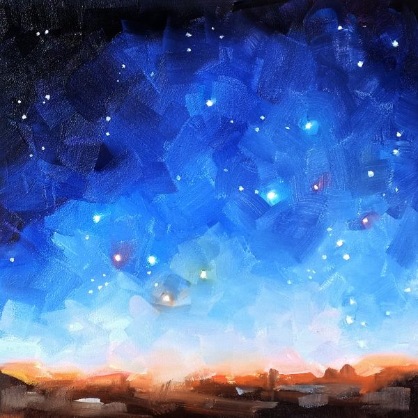 Cassiopeia, oil painting by Deb Anderson