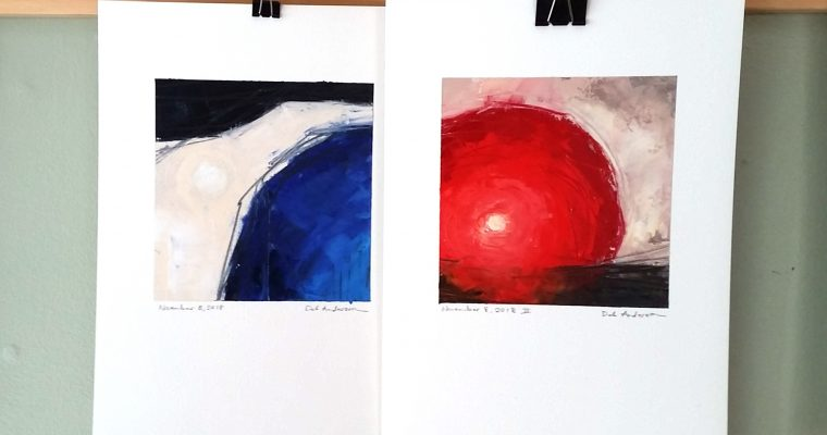 Art practice: abstracts on paper