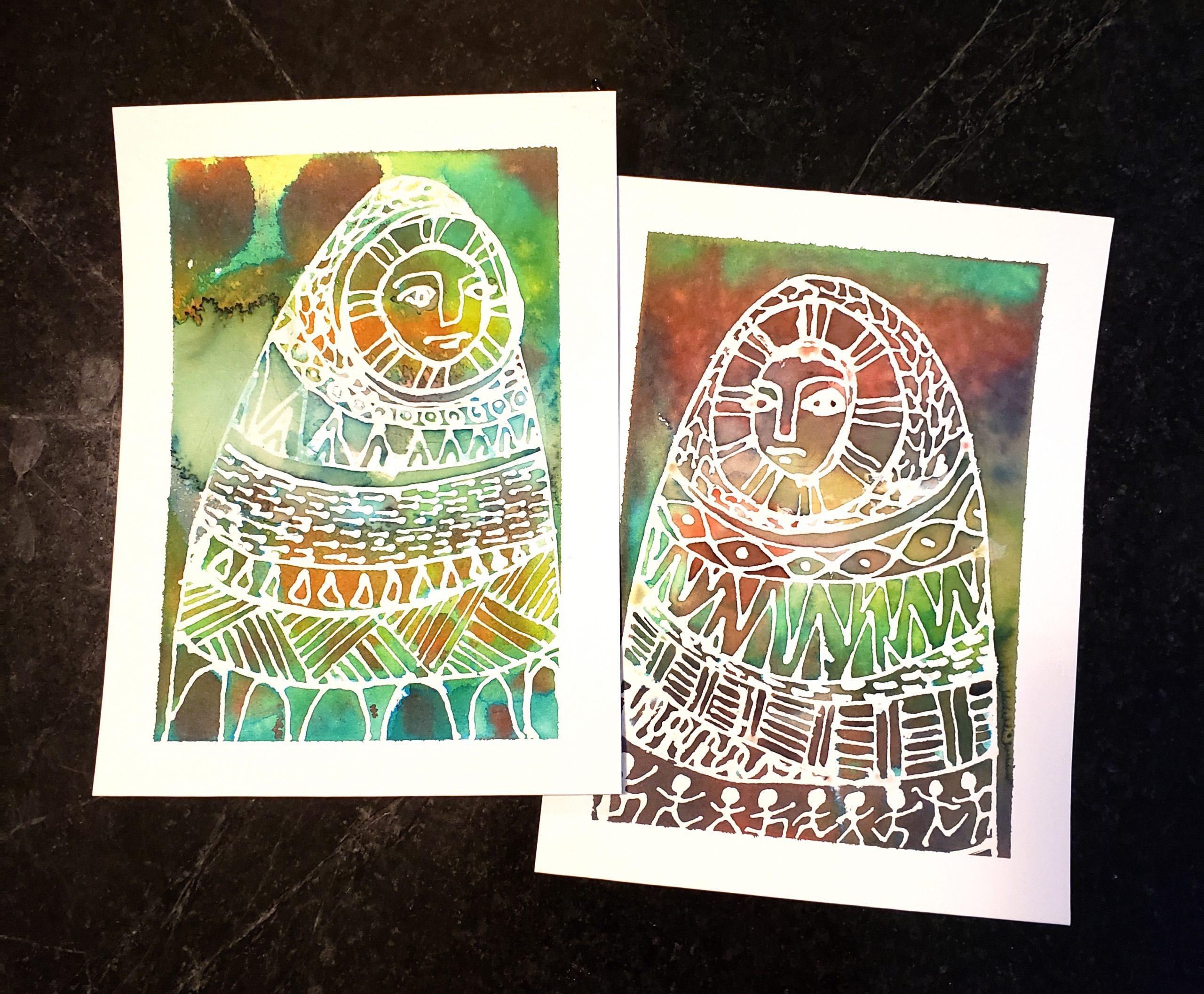 Small watercolor studies