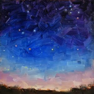 Night sky painting, with Cygnus