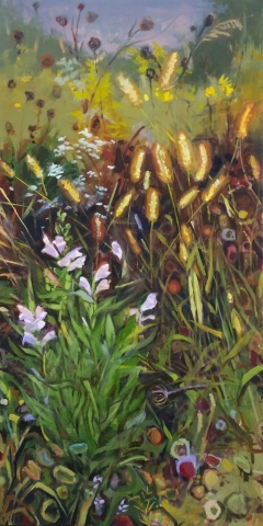Oil on cradled hardboard panel, 24 by 48 inches