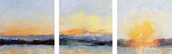 Daybreak Trio paintings