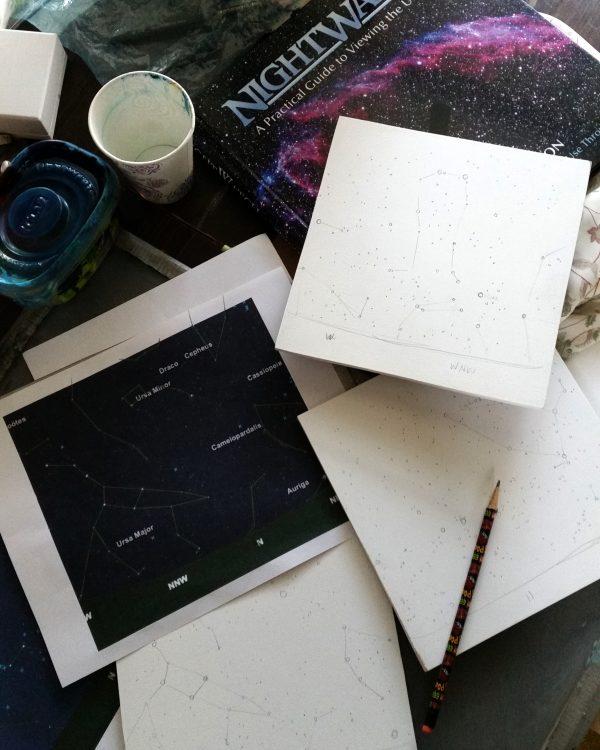 Star paintings in progress